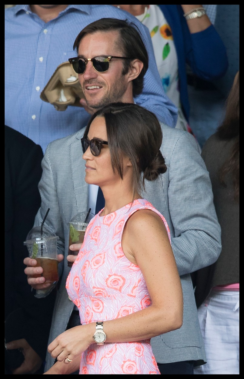 154564, Pippa Middleton and boyfriend James Matthews on Centre court on day nine of the Wimbledon Tennis Championships in London. London, United Kingdom - Wednesday July 6, 2016. UK, FRANCE, AUS, NZ, CHINA, HONGKONG, TAIWAN, SPAIN & ITALY OUT, Image: 293386511, License: Rights-managed, Restrictions: RESTRICTIONS APPLY, Model Release: no, Credit line: Profimedia, Pacific coast news