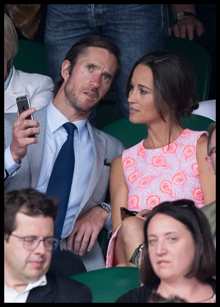 July 6, 2016 - London, United Kingdom - Image licensed to i-Images Picture Agency. 06/07/2016. London, United Kingdom. Pippa Middleton and boyfriend James Matthews on Centre court on day nine of the Wimbledon Tennis Championships in London. Picture by Stephen Lock / i-Images, Image: 293397038, License: Rights-managed, Restrictions: * China, France, Italy, Spain, Taiwan and UK Rights OUT *, Model Release: no, Credit line: Profimedia, Zuma Press - Entertaiment