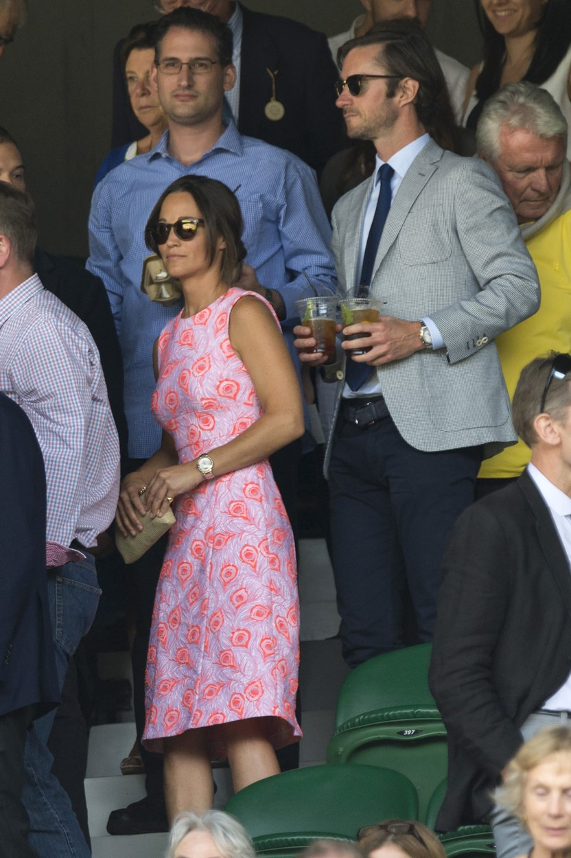 July 6, 2016 - London, London, UK - PIPPA MIDDLETON and JAMES MATTHEWS watch tennis on the centre court on the tenth day of the WIMBLEDON Lawn Tennis Championships. London, UK., Image: 293397512, License: Rights-managed, Restrictions: * United Kingdom Rights OUT *, Model Release: no, Credit line: Profimedia, Zuma Press - News