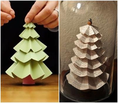 Направи си сам: Декоративни елхи от хартия